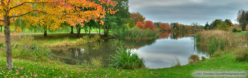 Seneca Pond - Fall by Sheridan Vincent