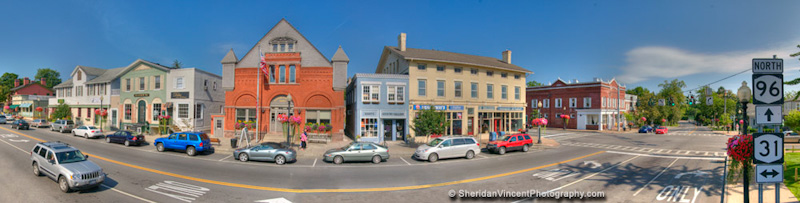 Pittsford, NY Main Street by Sheridan Vincent