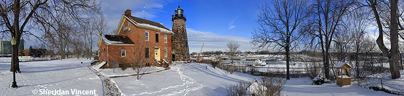 Charlotte Genesee Lighthouse Winter by Sheridan Vincent